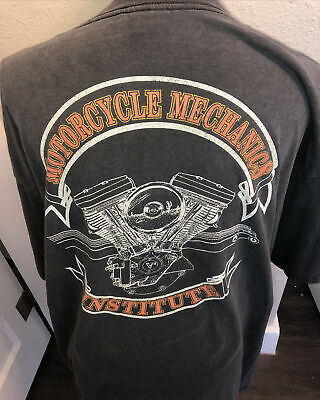 $ CDN58.79 • Buy Vintage 1995 Harley-Davidson MMI Motorcycle Mechanics Institute T-Shirt 2 XL