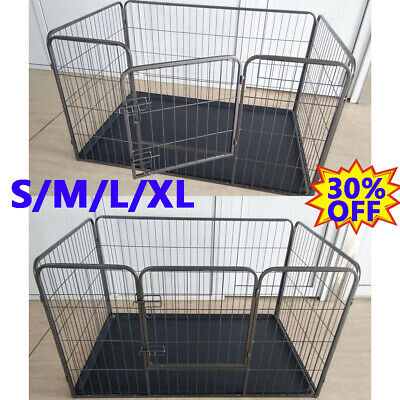 Heavy Duty Puppy Play Pen Dog Crate Whelping Box Rabbit Enclosure Dog Run Cage • 49.90£