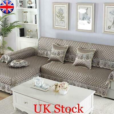 Sofa Couch Slipcover Stretch Covers Jacquard Elastic Fabric Settee Protector Fit • 21.12£