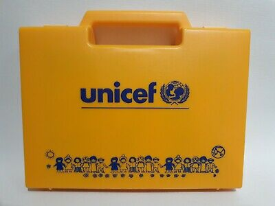 $ CDN15.13 • Buy Vtg Unicef 20 Cube Block Puzzle With Yellow Case (missing The Picture Guides)