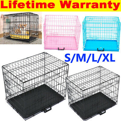 £49.60 • Buy Dog Cage Puppy Training Crate Pet Carrier - Small Medium Large Xl Xxl Cages