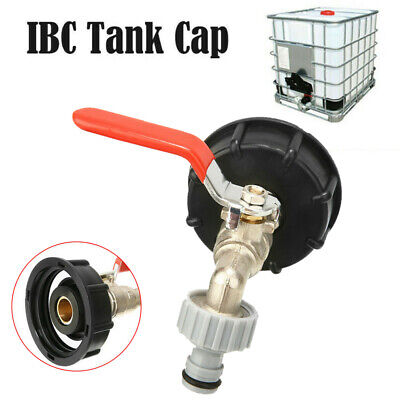 IBC Tank Cap Adapter With Brass Tap&1/2  Snap On Hose Connector IBC Ton Valve • 9.89£