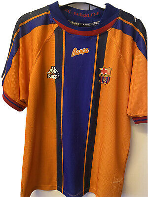 Barcelona 1997/1998 Away Shirt. Authentic. Size: Adult Small • 40£