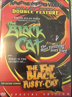 Rare-the Black Cat+the Fat Black Pussy-cat- A Something Weird Double Feature Dvd • 40£