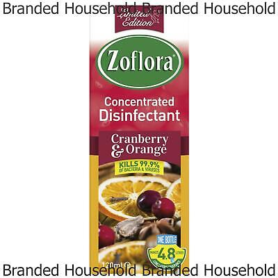 Zoflora Concentrated Disinfectant Antibacterial Germs Cranberry Orange 120ml • 3.99£
