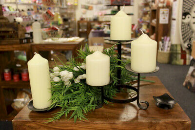£2.45 • Buy Church Pillar Candles - High Quality Ivory-White Large Unscented Long Burn Wax