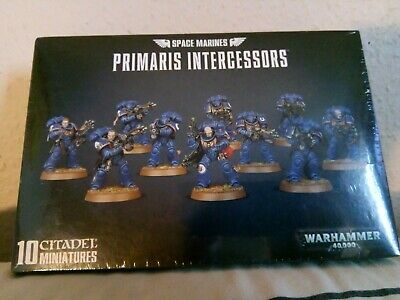 New Warhammer 40,000 Space Marines Primaris Intercessors 10 Citadel Miniatures  • 21£