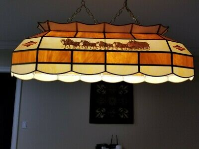 $ CDN325.85 • Buy Budweiser Clydesdale Pool Table Light Stained Glass Excellent Condition