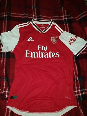 Arsenal Adidas Player Issue Home Shirt 19/20 UK L Excellent Saka 77 • 19.99£