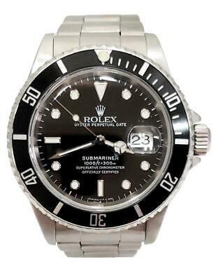 $ CDN11528.58 • Buy 40mm Rolex Submariner 16610 Oyster Date Stainless Steel Automatic Watch