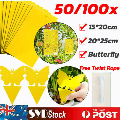 AU38.98 • Buy Double-Sided Sticky Glue Paper Insect Trap Catcher Killer Fly Gnat Aphids Wasp