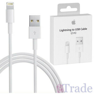 AU26.95 • Buy IPhone XR XS / XS Max GENUINE Apple Lightning Data Sync Cable Charger 2m 2 Metre
