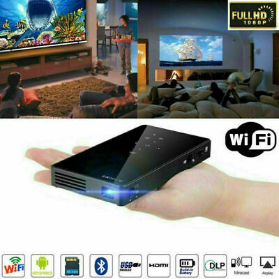 AU289.96 • Buy Mini Pocket DLP Android Wifi 1080P HD Home Cinema Projector TF HDMI IN 3000Lumen