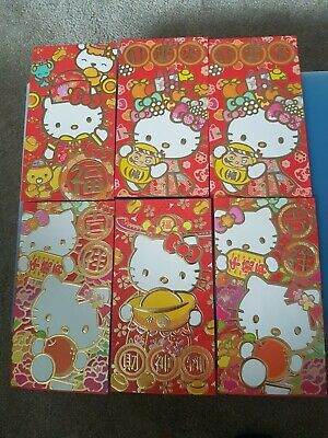 £3.75 • Buy  6 X Hello Kitty Large Red Envelopes For Christmas, Chinese New Year, Birthdays