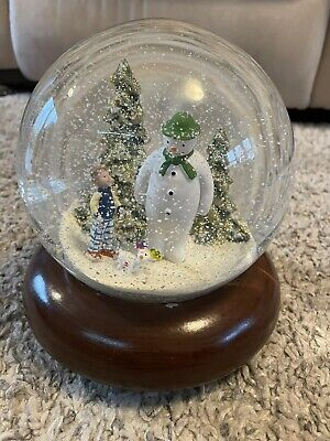 Illuminated The Snowman, Billy & Snowdog Musical Snow Globe In Original Box • 23.50£