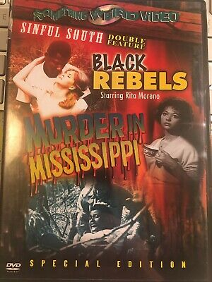 Black Rebels + Murder In Mississippi, Something Weird Sinful Double Bill Dvd • 35£