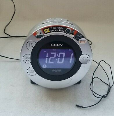 AU64.14 • Buy Sony Cd Dream Machine Icf-cd3ip Am/fm Ipod/iphone Dock Radio Alarm Clock Works