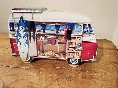 Retro Vw Bus T2 Biscuit Sweets Cookie Storage Cake Tin Christmas Present Novelty • 6.99£