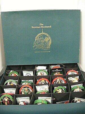 $ CDN130.61 • Buy Vintage Norman Rockwell Merry Christmas Ornament Set 21 Box Excellent Condition