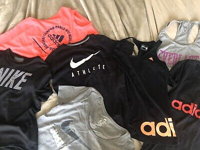 AU59.99 • Buy Womens Sport Label Clothing Nike Adidas Tank Muscle Tops Tshirts 7 Items! Size 8
