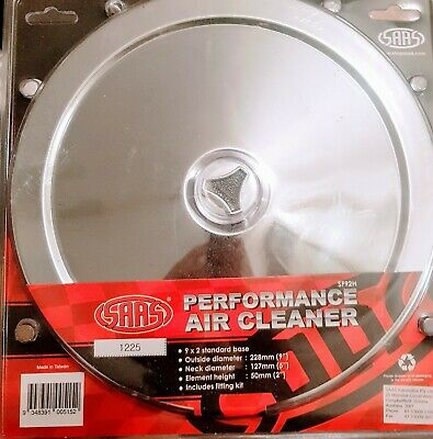 AU40 • Buy Saas Sf92h Chrome Air Filter Assembly 9  X 2   Performance Air Cleaner