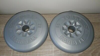 York Barbell Weights Vinyl Plastic Coated Type  2X 2.5KG Used • 3£