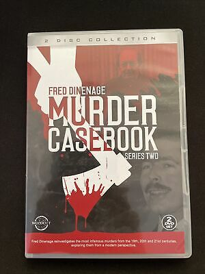 Fred Dinenage Murder Casebook Series Two 2 Disc Set DVD Ft Cannock Chase Murders • 2.90£