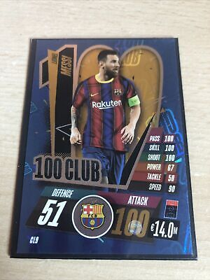 Match Attax 2020/2021 LIONEL MESSI 100 CLUB • 1£
