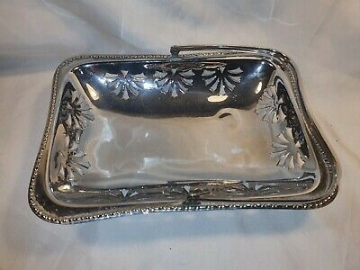 £12.99 • Buy Vintage Silver Plated Serving Dish/Basket Lace Effect In Great Condition