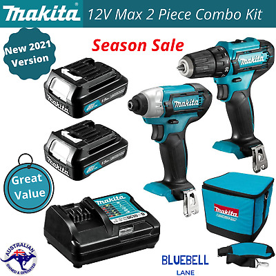 AU247.45 • Buy Makita Cordless Drill Driver Combo Kit With Batteries Charger Li-Ion Work Tools