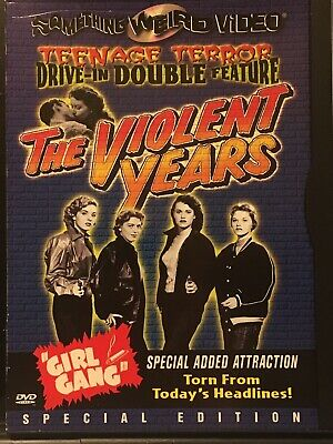 The Violent Years / Girl Gang - Something Weird Teenage Terror Double Bill Dvd • 11£