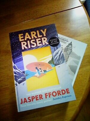 Jasper Fforde Signed  Early Riser  1st/1st With Dormitorium Postcard • 19.99£