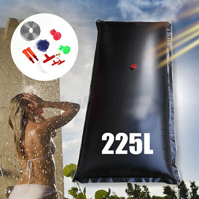 AU45.99 • Buy 225L Camping Solar Heated Water Pipe Camp Solar Shower Bag Portable Bag Outdoor