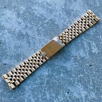$ CDN3399.95 • Buy Vintage Rolex 14K Yellow Gold Jubilee Link Bracelet Band -  20 Mm End Link
