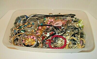 $ CDN78.39 • Buy Vintage To Now Estate Jewelry Lot 5+ Pounds Junk Drawer Unsearched Untested