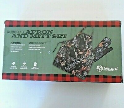 $15.19 • Buy Camouflage Apron And Mitt Set By Reward Lodge New In Box