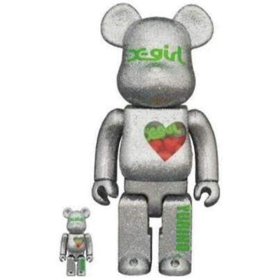 $498 • Buy MEDICOM TOY  BE@RBRICK X-girl × YURINO 400% 100% Set Bearbrick