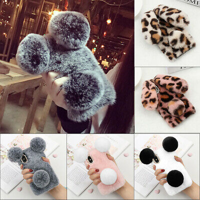 3D Cute Furry Fluff Phone Case Bling Soft Cover For IPhone 12 Pro Max 11 XR 8 7 • 6.75£