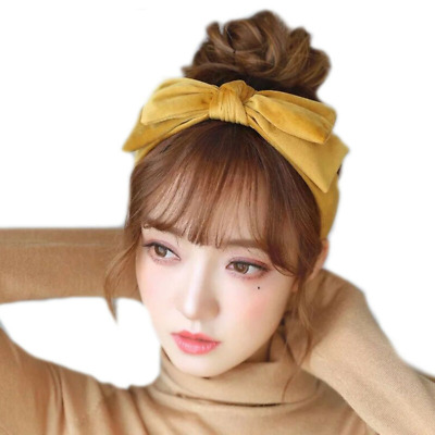 $ CDN10.14 • Buy Velvet Hairband For Women Girls Hair Accessories Headband Big Bow Headwear Party