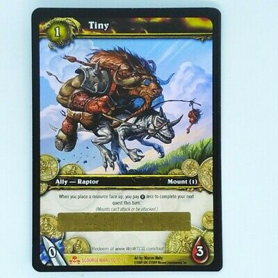 Tiny Loot Card 1/3 UNSCRATCHED WOW TCG Scourge War Of Warcraft • 24.99£