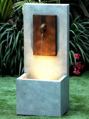 Solitary Tap Water Feature Garden Fountain With Lights And Pump • 249£