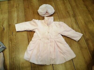 Gorgeous Emile Et Rose Baby Girl Coat & Matching Hat/beret, Pink, Age 12 Months • 9£