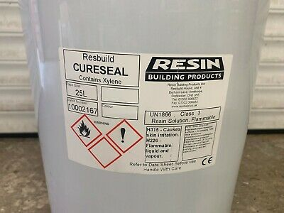 Resbuild Cureseal Clear Resin Based Curing Compound Surface Sealer Concrete 20L • 30£