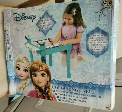 Disney Frozen Elsa & Anna Colouring Table With Colouring Sheet Blue RRP £25 • 5.98£