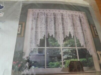 NEW Quaker LACE FESTOON SWAG CURTAIN IVORY LACE  Wisteria  Pattern NIP 72Wx36  • 11.87£