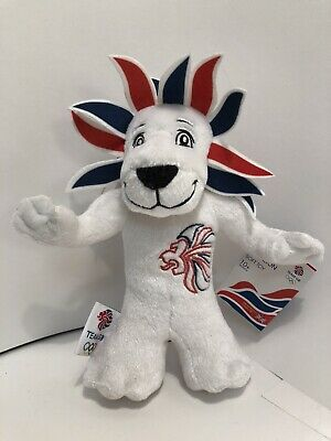 PRIDE The LION Official Olympic TEAM GB Mascot Plush Soft Toy. New With All Tags • 2.50£