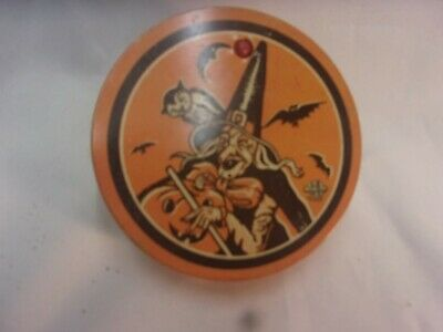 $ CDN23.36 • Buy Vintage Halloween Tin Lithograph Noise Maker Witch Bat Noisemaker U.S. Metal Toy