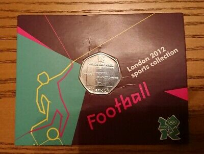 2011 50p Football Offside Rule Carded London Olympics Fifty Pence Pack • 26.95£