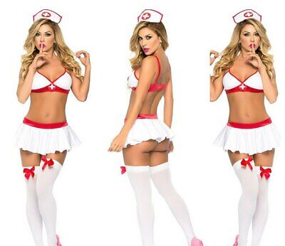 Sexy Nurse Cosplay Baby Doll Erotic Costume Uniform Fancy Lingerie Outfit Fun  • 5.99£