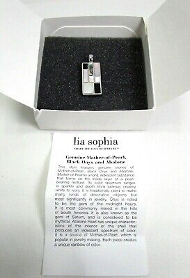 $ CDN24.83 • Buy Lia Sophia Sheridan Pendant Mother Of Pearl Black Onyx Abalone No Chain